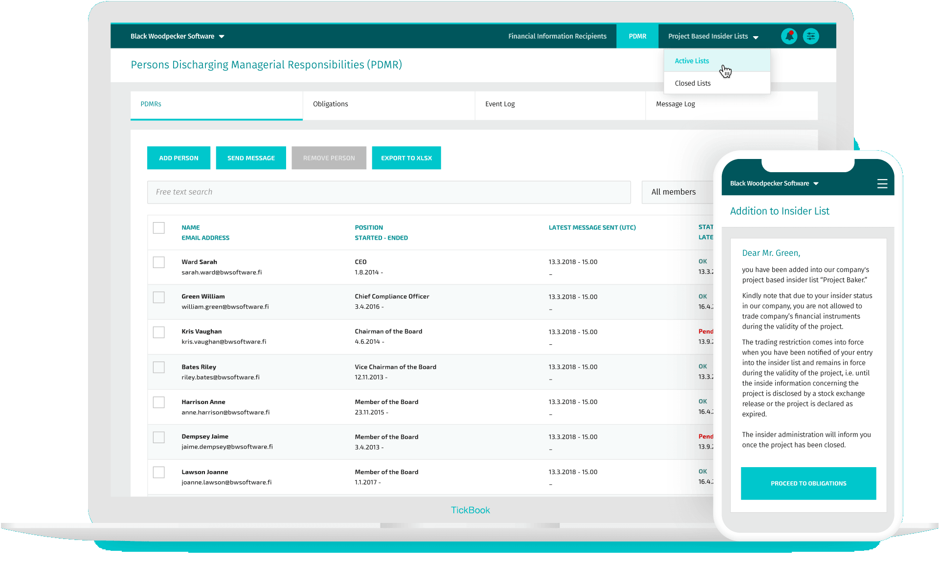 TIcker - Insider List Management